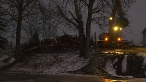 Five people are dead after a house fire in a hamlet northwest of Edmonton on Dec. 5, 2019. (CTV News Edmonton)