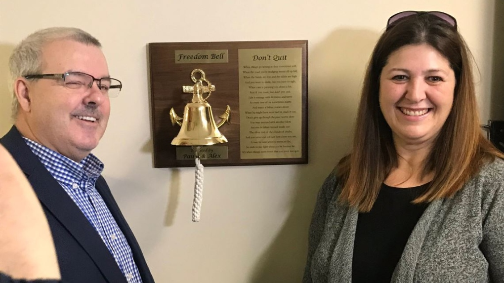 N.B. stroke patient installs 'freedom bell' for others to celebrate leaving hospital