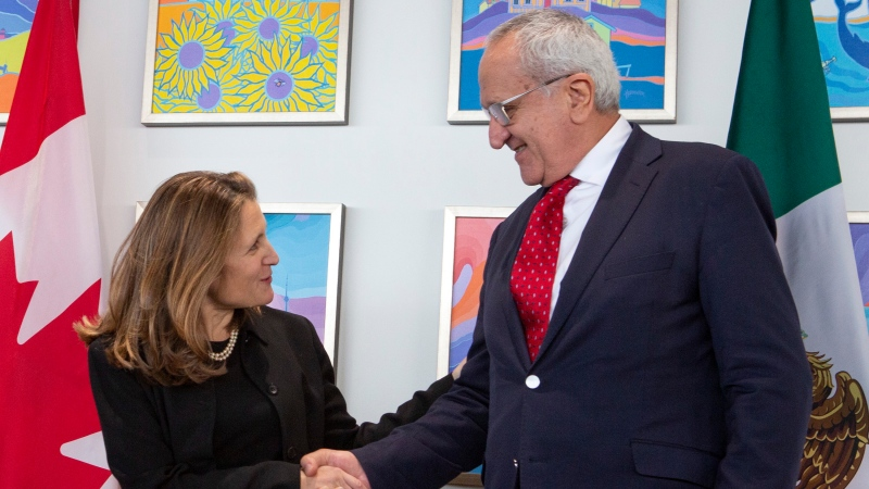 Deputy Prime Minister Chrystia Freeland meets with Mexico's Undersecretary for North America, Jesus Seade in Ottawa Friday, Nov. 29, 2019. THE CANADIAN PRESS/Fred Chartrand