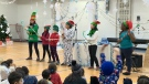 The kids and staff at Elizabeth Ballantyne Elementary School got into the holiday spirit Dec. 6, 2019 with singing, dancing and donations.