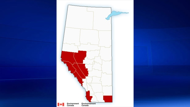 Many areas of Alberta and the mountain parts will get significant amounts of snow Saturday, Environment Canada says. (Supplied)