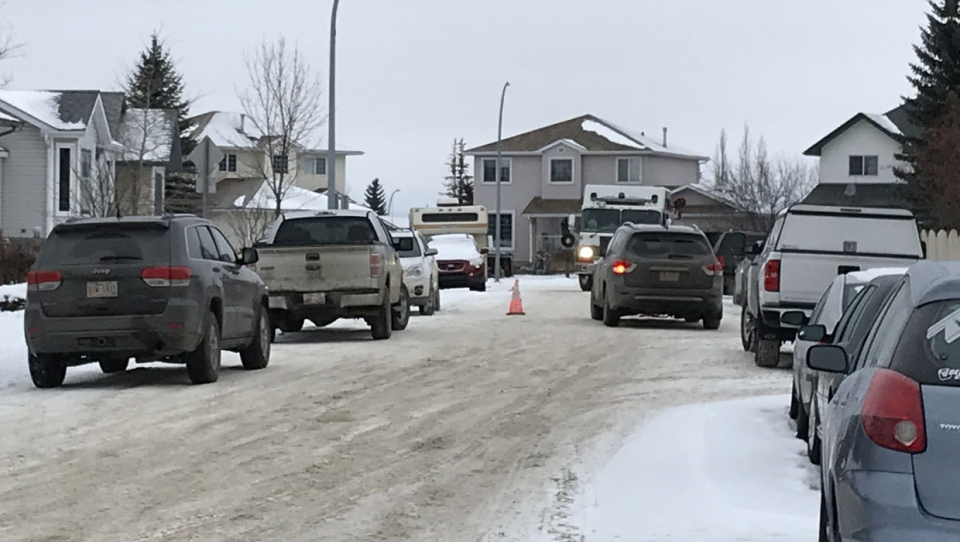 Officers were called to the home at 7 p.m. on Friday due to concerns about the well-being of a man and his partner. Police were led to believe by witnesses the man had a number of weapons.