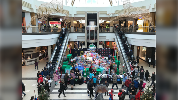 CTV News Winnipeg participated in Toy Mountain 2019 to collect toys for children in need. (Source: Mike Arsenault)