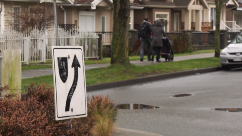 A 51-year-old man was hit by a car in East Vancouver on Nov. 29, but police have made little headway in identifying the vehicle or driver. (CTV)