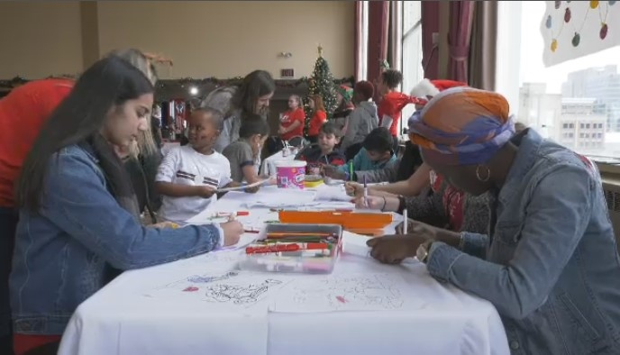 A holiday celebration for newcomers in Winnipeg