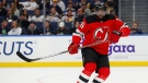 New Jersey Devils defenseman P.K. Subban (76) skates during the third period of an NHL hockey game against the Buffalo Sabres, Monday, Dec. 2, 2019, in Buffalo, N.Y. (AP Photo/Jeffrey T. Barnes)