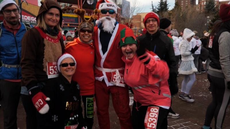Santa Shuffle run 2019, Calgary