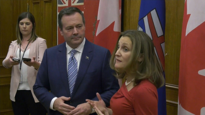 Jason Kenney, Chrystia Freeland