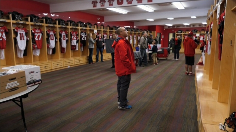 Calgary Stampeders locker room sale 2019