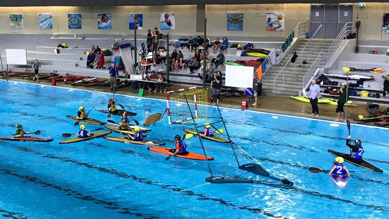 Calgary hosted the 2019 Provincial Youth Kayak Polo Championships on Saturday, Dec. 7.