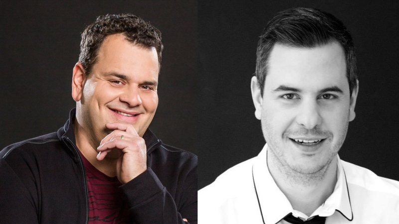 Award-winning comedians Philippe Laprise and Pierre Hebert will host tonight's Olivier Gala honouring the best in Quebec comedy. SOURCE Facebook