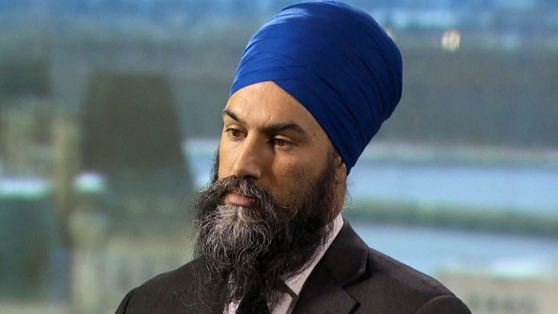 NDP Leader Jagmeet Singh speaks on CTV's Question Period.