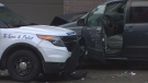 The Special Investigations Unit is investigating after a police officer shot a man in downtown Toronto Saturday night. (CTV News Toronto)