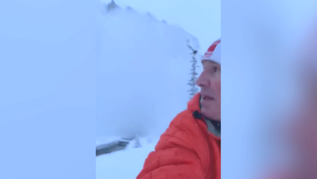 Bryon Howard was out for a run Friday in Lake Louise, where got up close and personal with an avalanche. (Byron Howard)