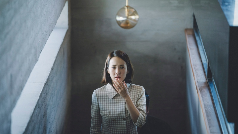 "This image released by Neon shows Yeo-jeong Jo in a scene from ""Parasite."" (Neon via AP)"