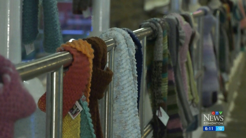 Keeping Edmontonians warm, one scarf at a time