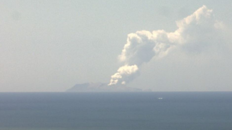 A volcano erupted Monday on a small New Zealand island frequented by tourists, and a number of people were missing and injured after the eruption. (GeoNet/Geological hazard information for New Zealand)