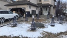 The Allen family has rebuilt their light display after it was damaged last week (Facebook: Allen Family Lights)