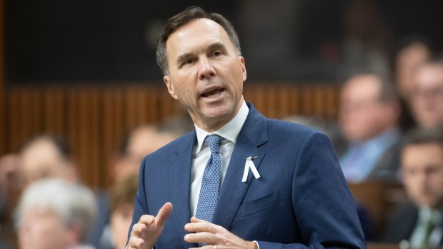 Minister of Finance Bill Morneau responds to a question during Question Period in the House of Commons Friday December 6, 2019 in Ottawa. THE CANADIAN PRESS/Adrian Wyld