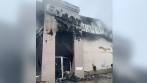 Fire at the Edson Chrysler dealership on Dec. 9, 2019. (Credit: Edson Fire Department)