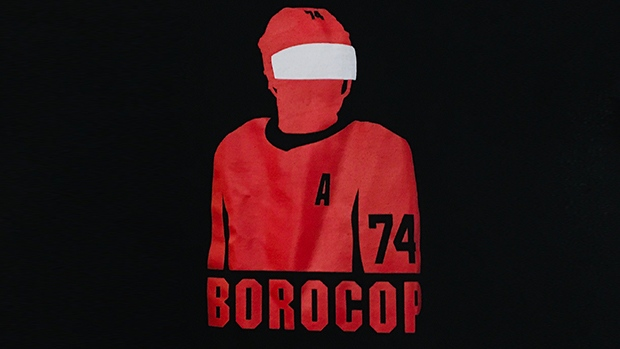 Sens sell Borocop t-shirts to raise funds for Capital City Condors