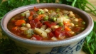 A bowl of minestrone soup. (Larry Crowe / AP)