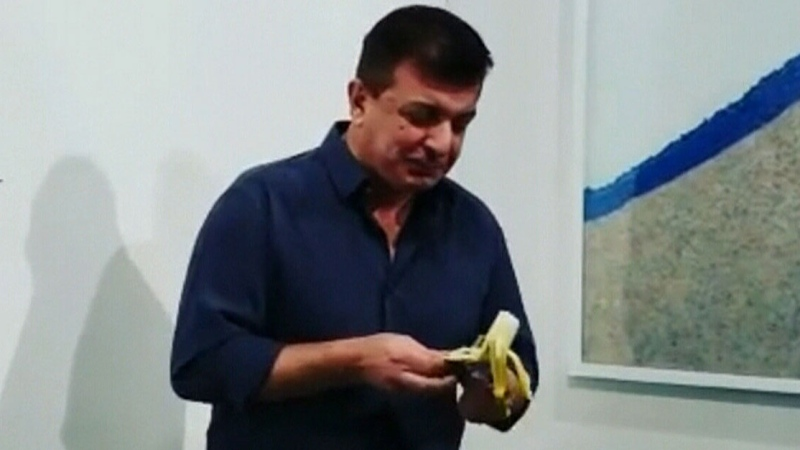 Art banana sold – then eaten
