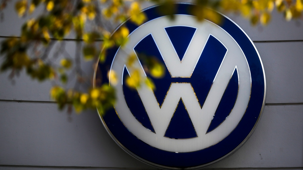 VW sign Berlin