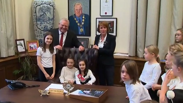 Doug Ford and kids