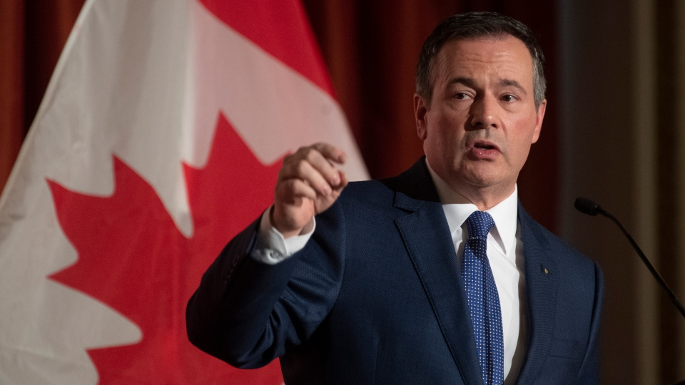 Alberta Premier Jason Kenney speaks to the Canadian Club of Ottawa, Monday December 9, 2019 in Ottawa. THE CANADIAN PRESS/Adrian Wyld