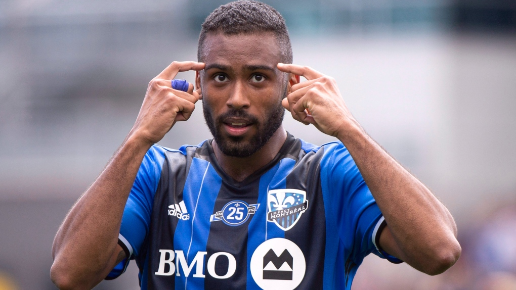 Quebec striker Jackson-Hamel back in Montreal on a one-year deal with an option