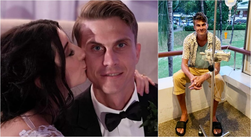 Alex Witmer is fighting to get home after his travel insurance was declined because he told doctors he had a headache while suffering from the flu over a month ago. (Supplied)