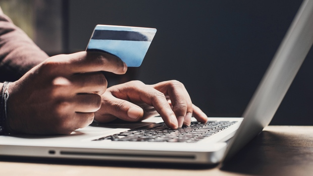 Credit card use on a computer