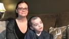 Leeanne and Tanner Wilson are pictured on Dec. 9, 2019. (Saron Fanel/CTV Saskatoon)
