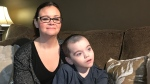 Leeanne and Tanner Wilson are pictured on Dec. 9, 2019. (Saron Fanel/CTV Saskatoon)