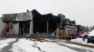 Fire at the Edson Chrysler dealership on Dec. 9, 2019. (Credit: Edson Fire Department)