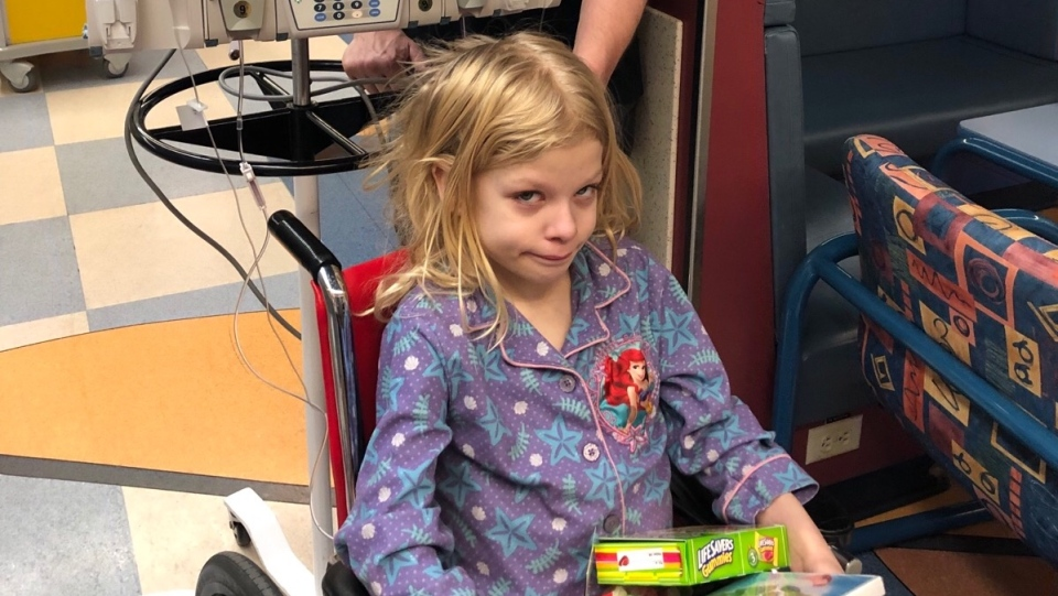 Jenna's dad, Darren Merko, said through four rounds of chemotherapy and one round of radiation, his seven-year-old daughter wanted to help others receiving treatment at the Stollery Children's Hospital. (Photo provided.)