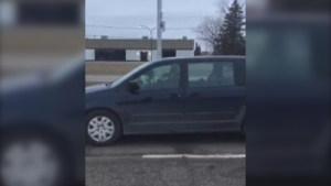 A man says he caught a photo radar enforcement officer driving while also using his phone near a construction zone in Winnipeg on Wednesday.