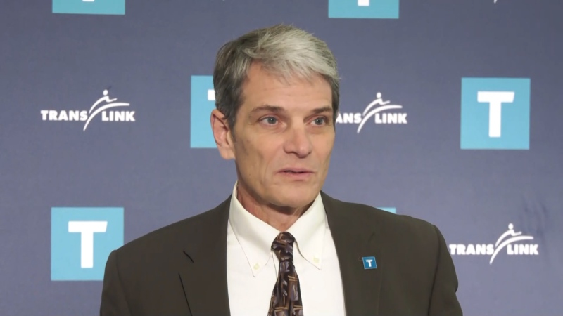 TransLink CEO Kevin Desmond speaks to reporters about the ongoing SkyTrain contract negotiations on Dec. 9, 2019.