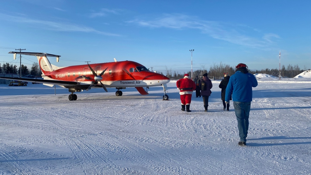 'We don't really have Santa in town'; Santa Flies North spreads holiday cheer to northern Sask.