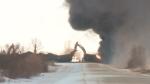Sask. train derailment sparks fire