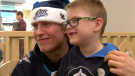 The Winnipeg Jets were greeted by some major fans Monday afternoon at the Children's Rehab Centre. Some players from the Jets took the afternoon to visit with the kids, give out some signatures and snap some photos. CTV's Scott Andersson gives you a look at the event.