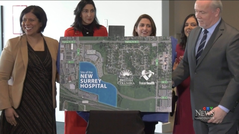 A long-awaited second hospital for Surrey will be built in Cloverdale. (CTV)