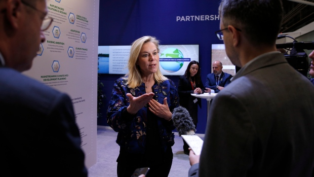 Dutch Minister for Foreign Trade and Development Cooperation Sigrid Kaag speaks during an interview with The Associated Press in Madrid, Spain, Tuesday, Dec. 10, 2019. (AP Photo/Manu Fernandez)