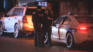 Police investigate after two bodies were discovered inside a Brampton home. (CTV News Toronto)