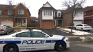 A Peel Regional Police cruiser is seen outside of a Brampton home. (CTV News Toronto)