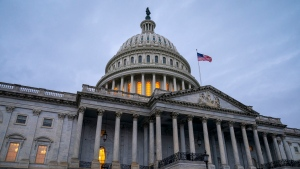 The Capitol is seen in Washington, Tuesday, Dec. 10, 2019, as Democratic leaders in the House are pushing ahead with formal impeachment charges. (AP Photo/J. Scott Applewhite)