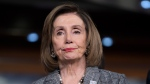 Speaker of the House Nancy Pelosi, D-Calif., stands during a news conference on climate change at the Capitol in Washington, Friday, Dec. 6, 2019. (AP Photo/J. Scott Applewhite)