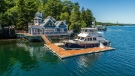 This nautical-themed, high-end home on Halifax's Northwest Arm is being auctioned off, rather than sold. (Concierge Auctions)