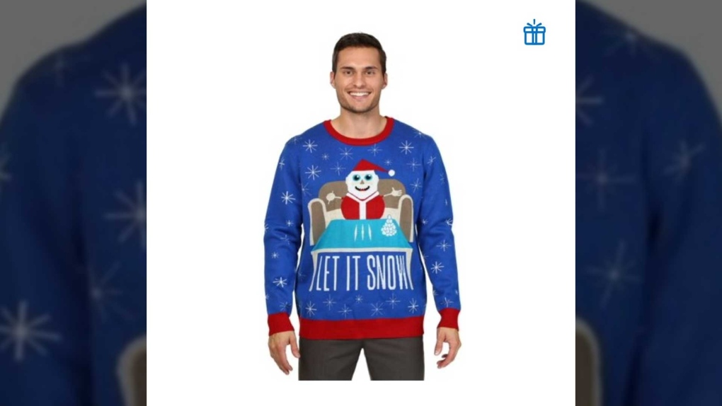 Walmart sweater - Let it Snow - cocaine